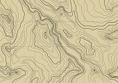 abstract topographic map