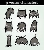 9 Vector Characters