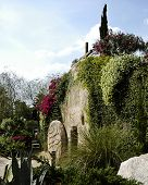 picture of empty tomb  - depiction of the garden tomb where jesus was laid after he was crucified - JPG