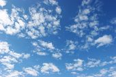 foto of clouds sky  - clouds in the sky drifting away in a light breeze - JPG