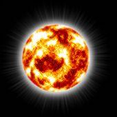 Hot Flaming Sun