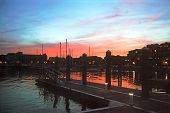 Sunset At Newport Wharf, Ri