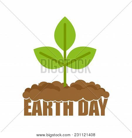 Earth Day Sprout Grows From