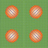 Incredible Motion Illusions. Movement Illusion Of Ball. Ball Rolls Along Surface. Abstract Backgroun poster