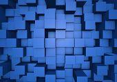 abstract cube wall