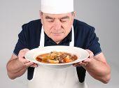 Chef com picadinho