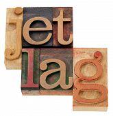 Jet Lag N Letterpress Type