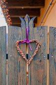 Door Decoration Made Of Dry Flower Symbolizing The Love And Affection. poster