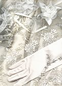 pearl-coloured textile wedding background