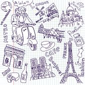 picture of moulin rouge  - Sightseeing in Paris doodles - JPG