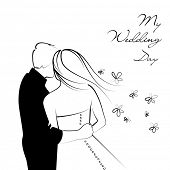 Black and White Wedding Background
