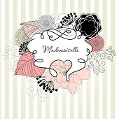 image of french curves  - Glamorous doodle frames - JPG