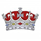stock photo of princess crown  - Vintage Crown - JPG