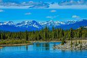 North Saskatchewan River, Aylmer Provincial Recreation Area, Alberta, Canada poster