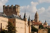 stock photo of zar  - Alcazar and the Cathedral of Segovia in Spain - JPG