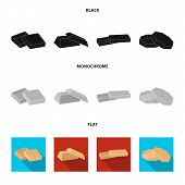 Case, Shell, Framework, And Other  Icon In Black, Flat, Monochrome Style.box, Container Package Icon poster
