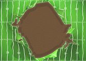 picture of football field  - ripped outward football field 3d - JPG
