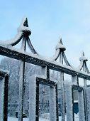Winter Cast-Iron Fence