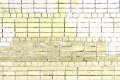 Wall Of Pale Yellow Brick. Beautiful Background Of Smooth Masonry. Texture. poster
