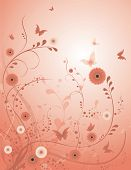 Rose Flower Vector Background