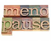 Menopause Word In Letterpress Type