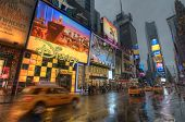 Times Square During Hurricane Irene