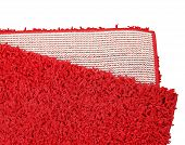 Welcome The Guest In Style By Choosing This Attractive Vibrant Red Color Doormat. Great Mesh Soft Du poster