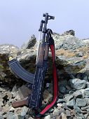 foto of ak47  - Worn AK47  - JPG