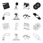 Badge, Operator Gesture And Other Accessories For The Movie. Making Movie Set Collection Icons In Bl poster