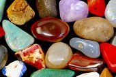 picture of hematite  - Closeup shot of different gemstones quartz hematite etc - JPG