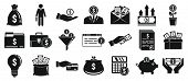 Investor Icons Set. Simple Set Of Investor Vector Icons For Web Design On White Background poster