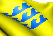 Flag Of Fraena, Norway.