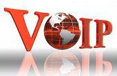 Palabra logotipo de VoIP