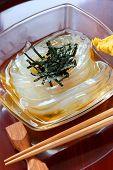 Tokoroten, Gelidium Gelee, japanische Sommer essen