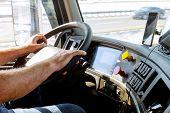 Truck Drivers Big Truck Of Drivers Hands On Big Truck Steering Wheel poster