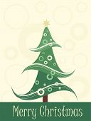 art christmas tree card