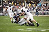 Derek Moye #6 catches the football