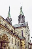 Monumental Cathedral In Bamberg, Bavaria, Germany. Travel Destination. Religious Architecture. poster