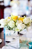 image of centerpiece  - wedding table centerpiece flowers - JPG