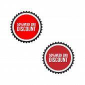 Sale Tag Vector Badge Template, 50 Off Sale Label Symbol, Clearance Sale Sticker Emblem, Bargain Sal poster