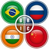 Bric Countries Buttons