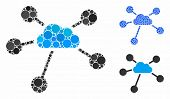 Cloud Connections Composition Of Round Dots In Various Sizes And Color Tones, Based On Cloud Connect poster