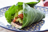 picture of romaine lettuce  - Seasoned nut loaf guacamole romaine lettuce salsa  - JPG