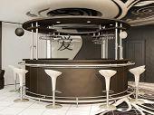 Barra redonda com cadeiras em .yin Interior moderno Jansky em pé