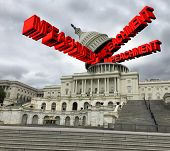 Impeachment In The United States Government  And Congress Vote  To Impeach The American President As poster
