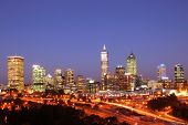 City Of Perth Night Scene