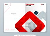 Red Brochure Design. A4 Cover Template For Brochure, Report, Catalog, Magazine. Brochure Layout With poster