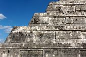 Detail of Kukulkan Pyramid Steps