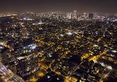 Tel Aviv Night Scene, Panoramic View Of Central Districts Of Tel-aviv At Dark Night. Megalopolis Lif poster