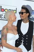 LAS VEGAS - MAY 20:  Amber Rose, Whiz Khalifa arrives at the 2012 Billboard Awards at MGM Garden Are
